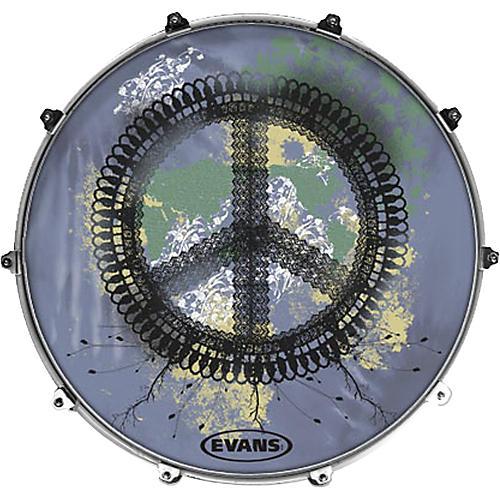 Evans Inked by Evans Woodstock Series Kick Drumhead