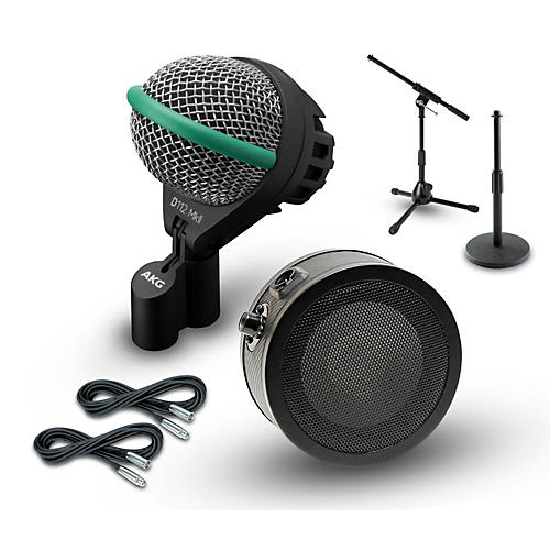 AKG Inside and Outside Kick Drum Mic Cable and Stand Package-thumbnail