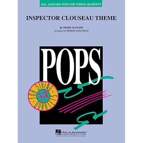 Hal Leonard Inspector Clouseau Theme Pops For String Quartet Series Arranged by Robert Longfield-thumbnail