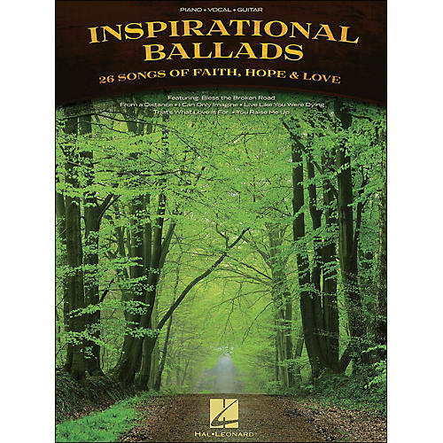 Hal Leonard Inspirational Ballads arranged for piano, vocal, and guitar (P/V/G)