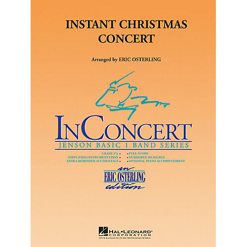 Hal Leonard Instant Christmas Concert Concert Band Level 1 Arranged by Eric Osterling-thumbnail