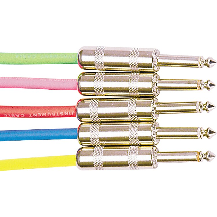 Rapco Horizon Instrument Cable Assorted Colors Neon Pink 10 Foot