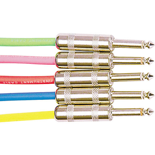 Rapco Horizon Instrument Cable Assorted Colors Neon Pink 15 ft.