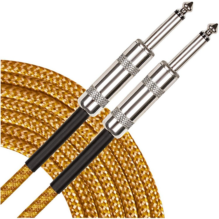 Musician's Gear Instrument Cable Black and Tweed 18.5 Foot
