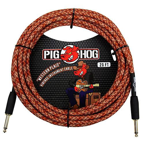 Pig Hog Instrument Cable Western Plaid 1/4