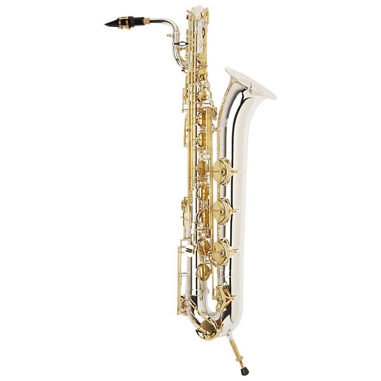 Jupiter Intermediate Baritone Saxophone Sterling Silver Neck, Silver Plated Body