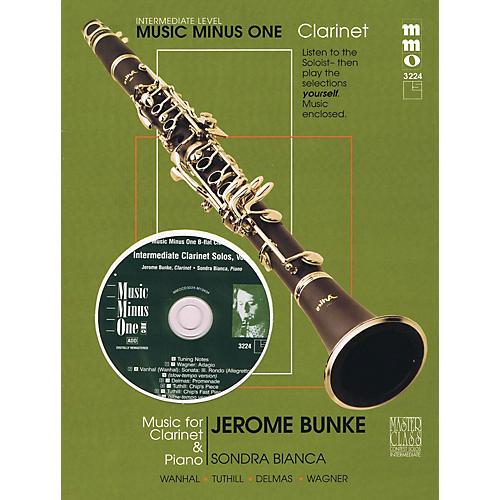 Music Minus One Intermediate Clarinet Solos - Vol. II Music Minus One Series BK/CD Performed by Jerome Bunke