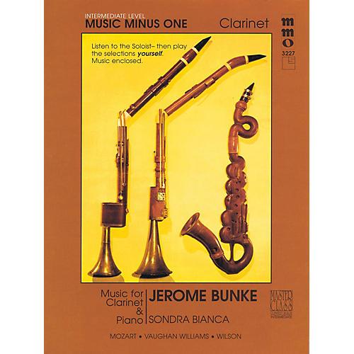 Music Minus One Intermediate Clarinet Solos - Volume 3 Music Minus One Series BK/CD by Stanley Drucker