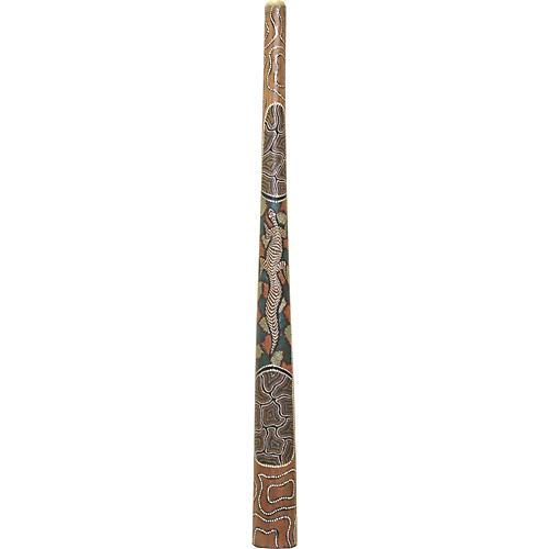 Mountain Rythym Intermediate Didgeridoo DID3DOT Intermediate - hand painted with dot art