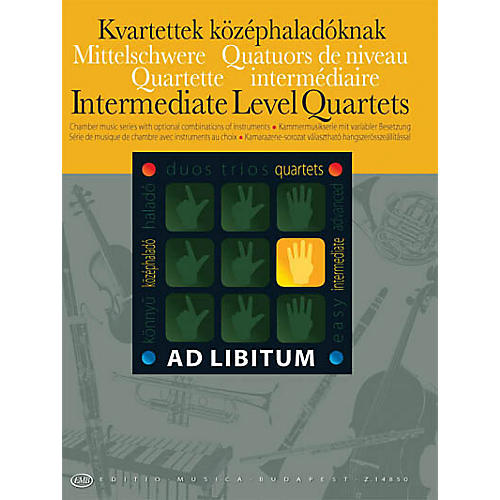 Editio Musica Budapest Intermediate Level Quartets EMB Series Softcover Edited by László Zempléni-thumbnail