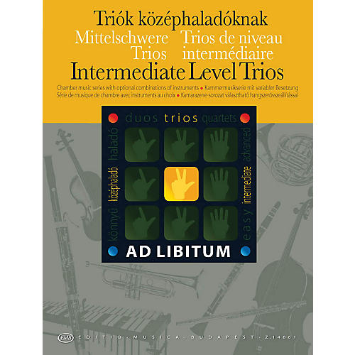 Editio Musica Budapest Intermediate Level Trios EMB Series by Various-thumbnail