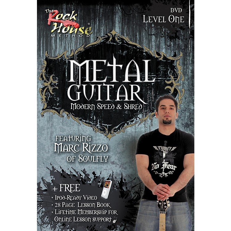 Rock House Intermediate Metal Guitar with Marc Rizzo (Book/DVD)