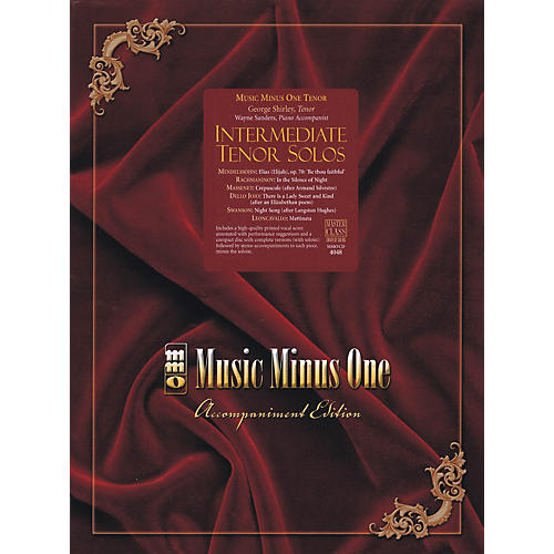 Music Minus One Intermediate Tenor Solos Music Minus One Series Softcover with CD  by Various-thumbnail