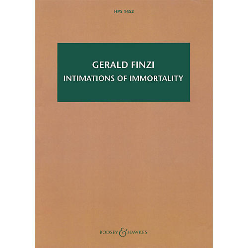 Boosey and Hawkes Intimations of Immortality, Op. 29 Boosey & Hawkes Scores/Books Series Composed by Gerald Finzi-thumbnail