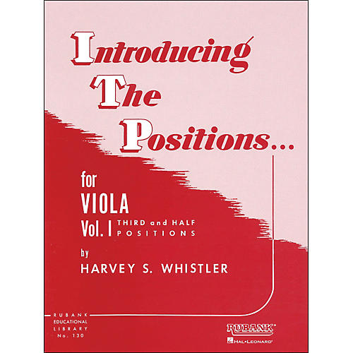 Hal Leonard Introducing The Positions for Viola Vol 1 Third And Half Positions-thumbnail