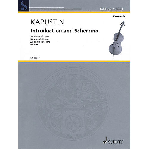Schott Introduction and Scherzino, Op. 93 (Cello Solo) String Solo Series Softcover-thumbnail