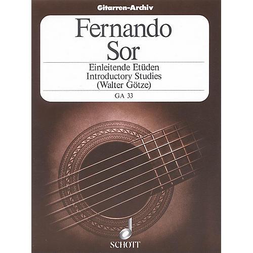 Schott Introductory Etudes, Op. 60 (Guitar Solo) Schott Series