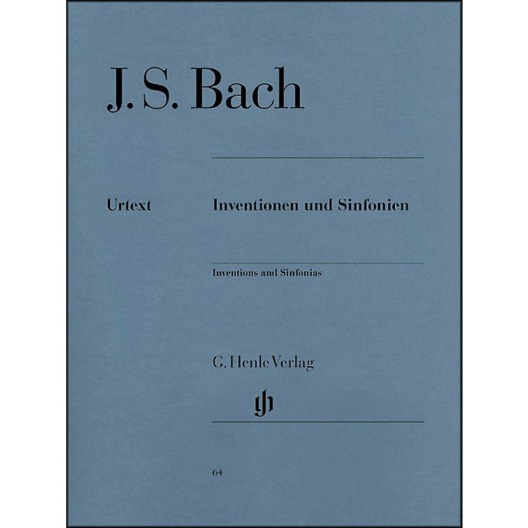 G. Henle Verlag Inventions And Sinfonias BWV 772-801 By Bach / Steglich