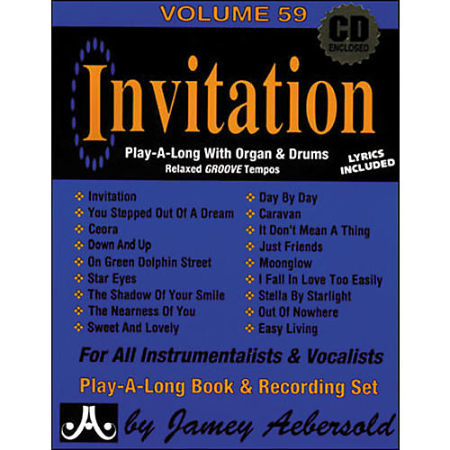 Jamey Aebersold Invitation Book and CD