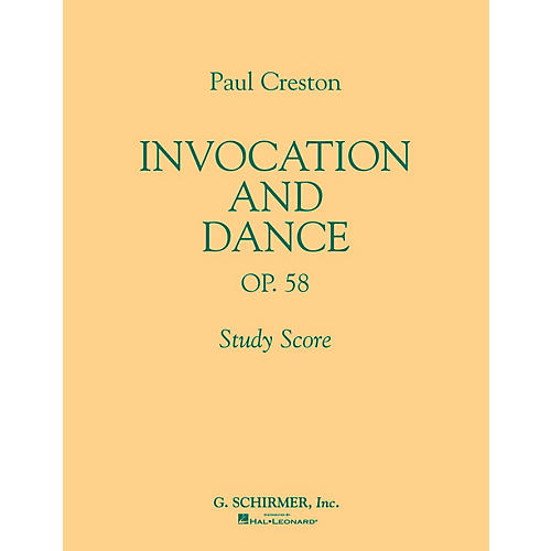 G. Schirmer Invocation and Dance, Op. 58 (Study Score No. 77) Study Score Series Composed by Paul Creston-thumbnail