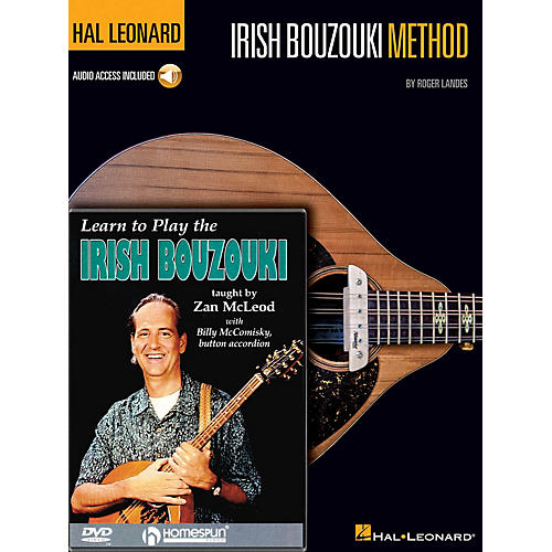 Homespun Irish Bouzouki Instructional Pack Homespun Tapes Series Softcover with DVD Written by Roger Landes-thumbnail