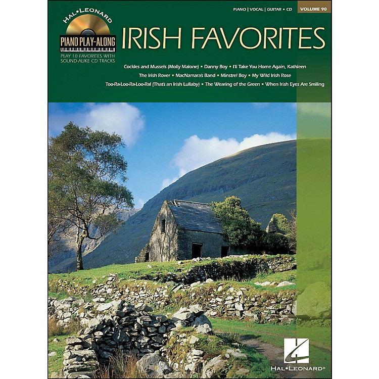 Hal Leonard Irish Favorites - Piano Play-Along Volume 90 (CD/Pkg) arranged for piano, vocal, and guitar (P/V/G)