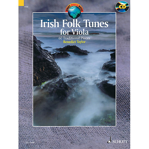 Schott Irish Folk Tunes for Viola (60 Traditional Pieces) String Series Softcover with CD by Benedict Taylor-thumbnail