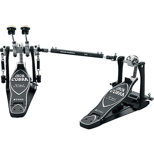 Tama Iron Cobra Power Glide Left Handed Double Kick Drum Pedal with Cobra Coil-thumbnail