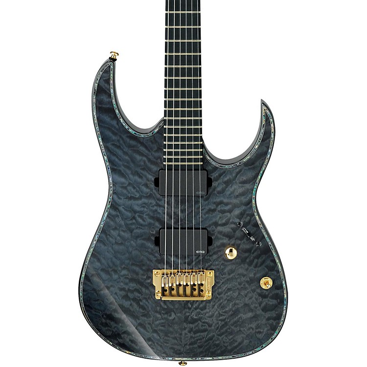 IbanezIron Label RG Series RGIX20FEQM Electric GuitarTrans GreyQuilted Maple