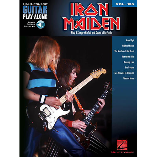 Hal Leonard Iron Maiden - Guitar Play-Along Volume 130 (Book/Online Audio)-thumbnail