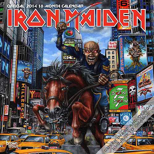 Browntrout Publishing Iron Maiden 2014 Calendar Square 12x12