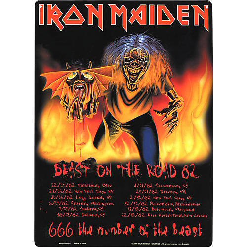 Gear One Iron maiden Beast on the Road Metal Sign-thumbnail