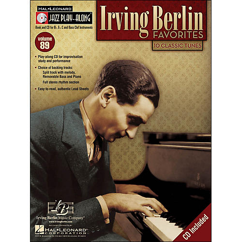 Hal Leonard Irving Berlin Favorites Jazz Play-Along Volume 89 Book/CD