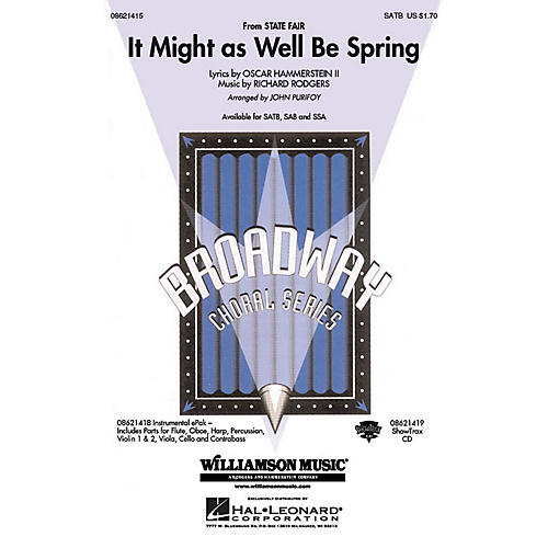Hal Leonard It Might as Well Be Spring (from the film State Fair) SATB arranged by John Purifoy
