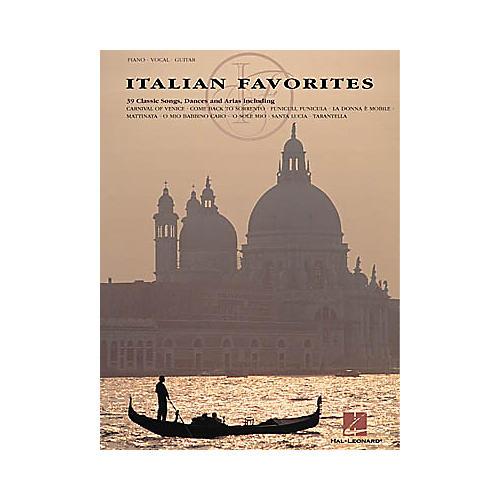 Hal Leonard Italian Favorites Piano, Vocal, Guitar Songbook