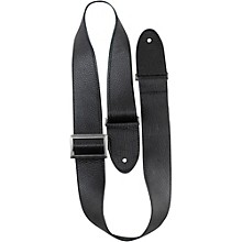 Perri's Italian Leather With Vintage Metal Hardware Adjustable Guitar Strap Black 2 in.