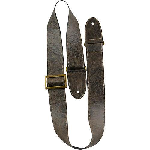 Perri's Italian Leather With Vintage Metal Hardware Adjustable Guitar Strap