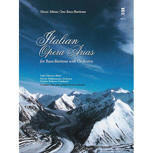 Music Minus One Italian Opera Arias for Bass-Baritone and Orchestra Music Minus One Series Softcover with CD by Various