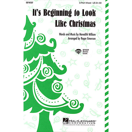 Hal Leonard It's Beginning to Look Like Christmas 2-Part Arranged by Roger Emerson-thumbnail