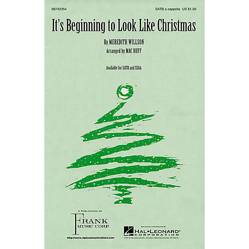 Hal Leonard It's Beginning to Look Like Christmas SATB a cappella arranged by Mac Huff