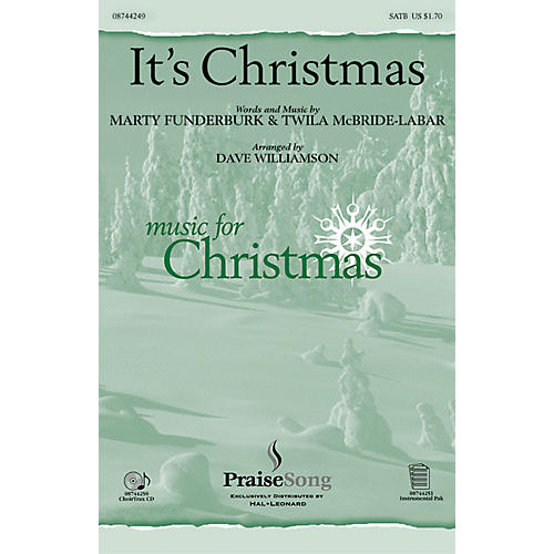 PraiseSong It's Christmas! SATB arranged by Dave Williamson