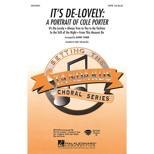Hal Leonard It's De-Lovely (A Portrait of Cole Porter) ShowTrax CD Arranged by Kirby Shaw-thumbnail