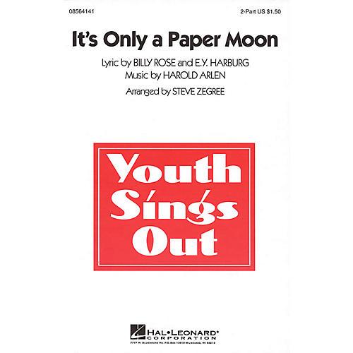 Hal Leonard It's Only a Paper Moon 2-Part arranged by Steve Zegree-thumbnail