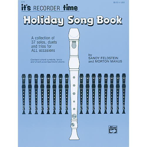 Alfred Its Recorder Time: Holiday Songbook-thumbnail