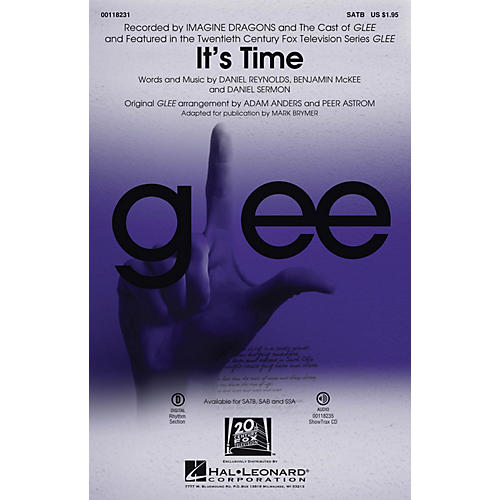 Hal Leonard It's Time SATB by Glee Cast arranged by Adam Anders