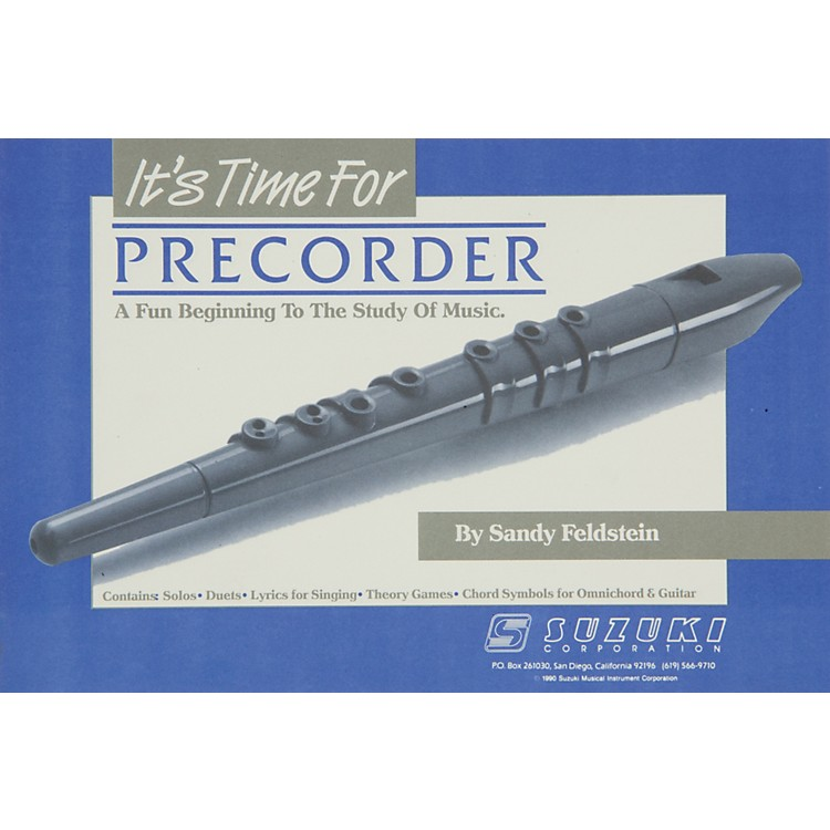 Alfred It's Time for Recorder
