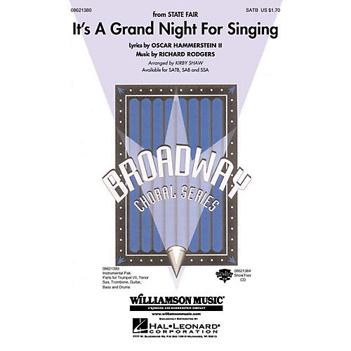 Hal Leonard It's a Grand Night for Singing (from State Fair) Combo Parts Arranged by Kirby Shaw-thumbnail