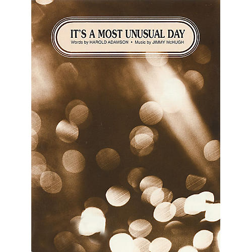 TRO ESSEX Music Group It's a Most Unusual Day Richmond Music ¯ Sheet Music Series-thumbnail
