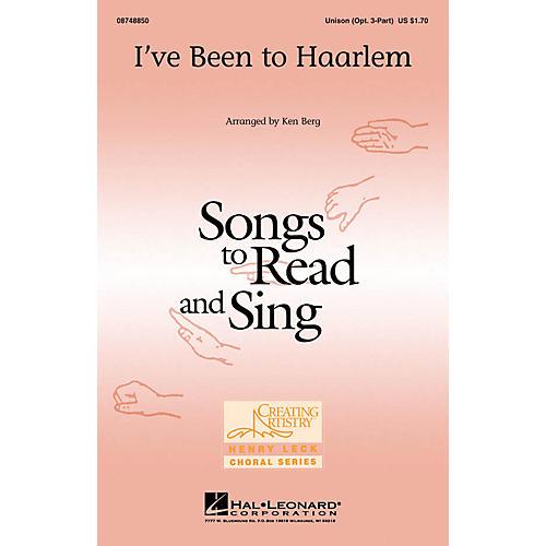 Hal Leonard I've Been to Haarlem Unison or optional 3-Part arranged by Ken Berg-thumbnail