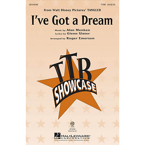 Hal Leonard I've Got a Dream (from Tangled) TTBB arranged by Roger Emerson-thumbnail